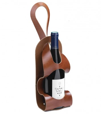 Porte-bouteille en cuir
